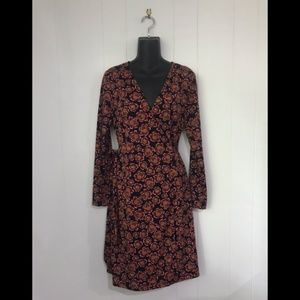 ANN TAYLOR Floral Wrap Dress